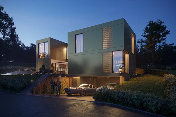 CGI: Modern House in Switzerland - Dezign Ark (Beta)