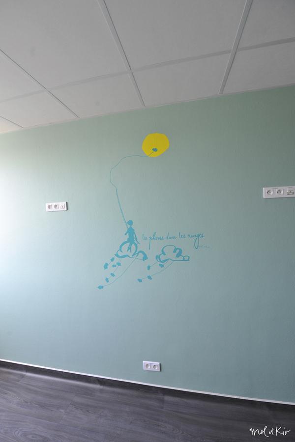 mel et kio wall design design mural Hôpital Timone marseille
