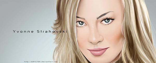 New Yvonne Strahovski painting on Behance