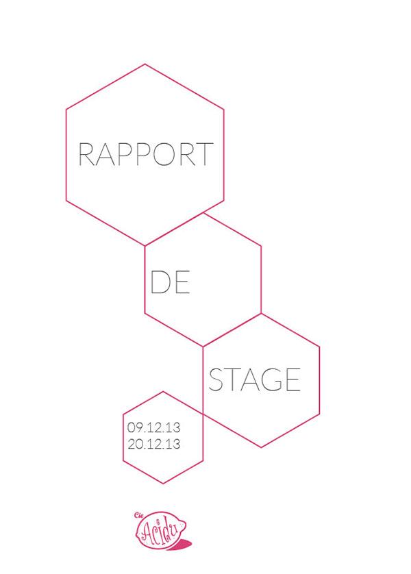 proposition couverture d'un rapport de stage on Behance