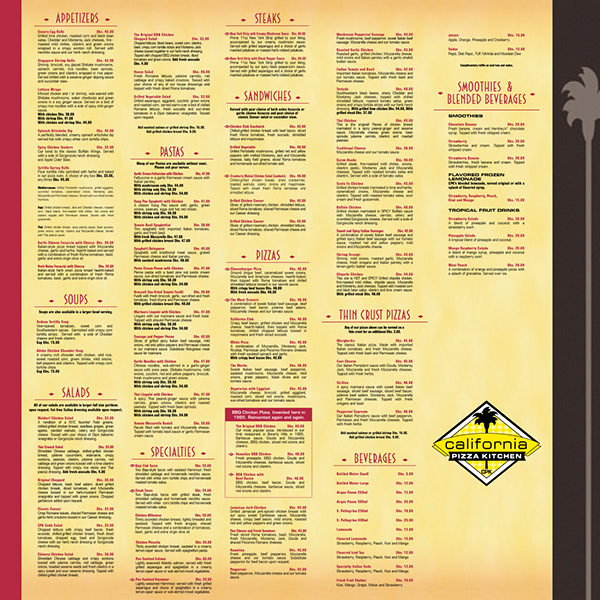 Cpk California Pizza Kitchen Artwork Collection On Behance