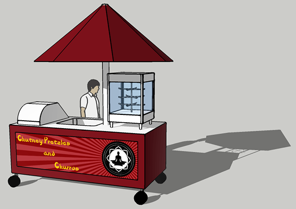 Design and mock-up for a San Francisco food cart  on Behance