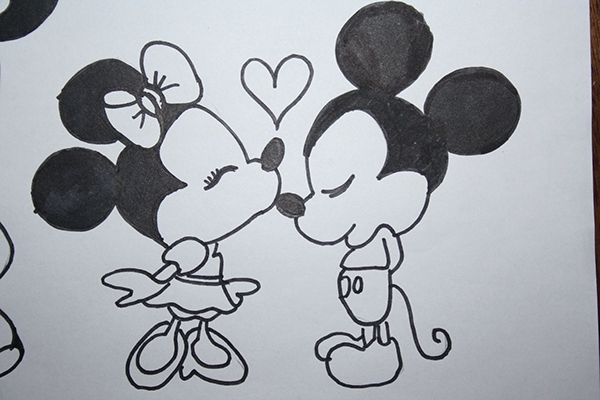 'Mickey & Minnie' Drawing
