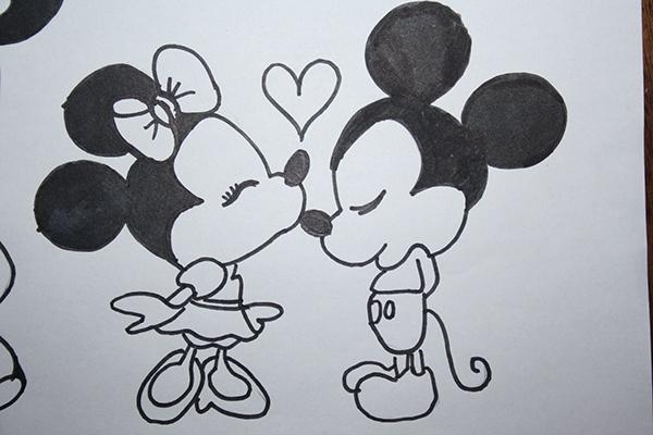 'Mickey & Minnie' Drawing