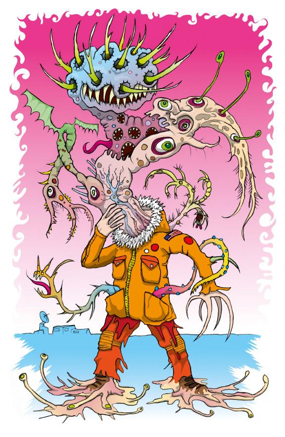 the thing monster morphing horror alien colour