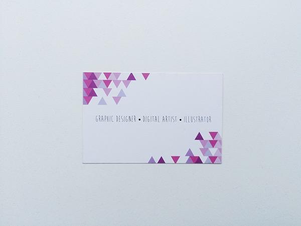 geometric Triangles inspiration art minimalistic design business card personal card card minimal Retro vintage