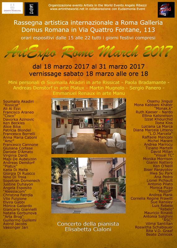 art artexpo expo Rome Italy Exhibition  gallery painting   painter photographer