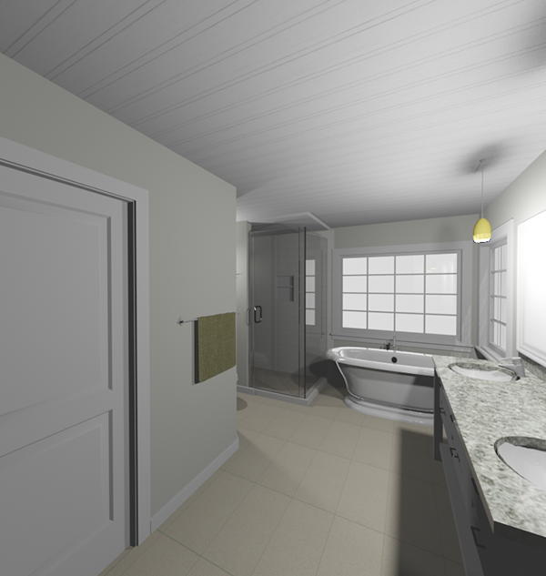 Master bath remodel vanity shower tub and toilet on behance for Bathroom renovations 3d