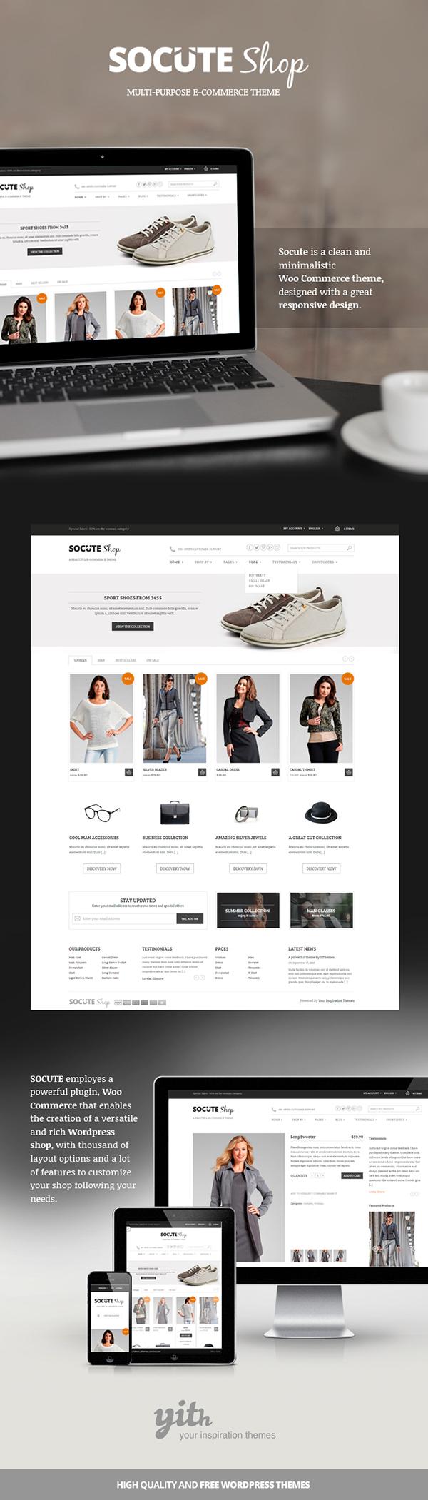 Socute shop: Multi-purpose E-commerce Theme on Behance