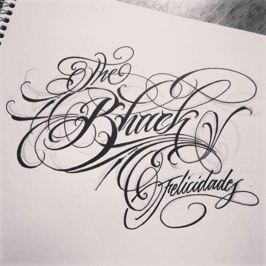 Tattoo Script (sketches) On Behance