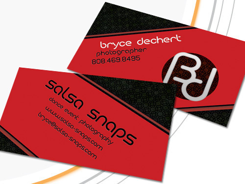 Salsa snaps business cards on behance businesscard design for a salsa dance instructor in california finished product wasprinted with a spot uv coating created in the summer of 2009 reheart Gallery