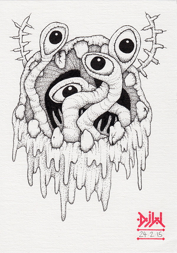 eyes tentacles demon Mouth MAW monster Magic
