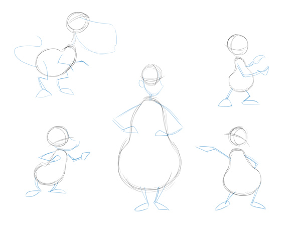 how to draw cartoon bodies