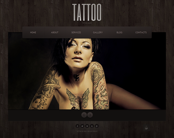 Tattoo Website Template. make tattoo designs website for free ...