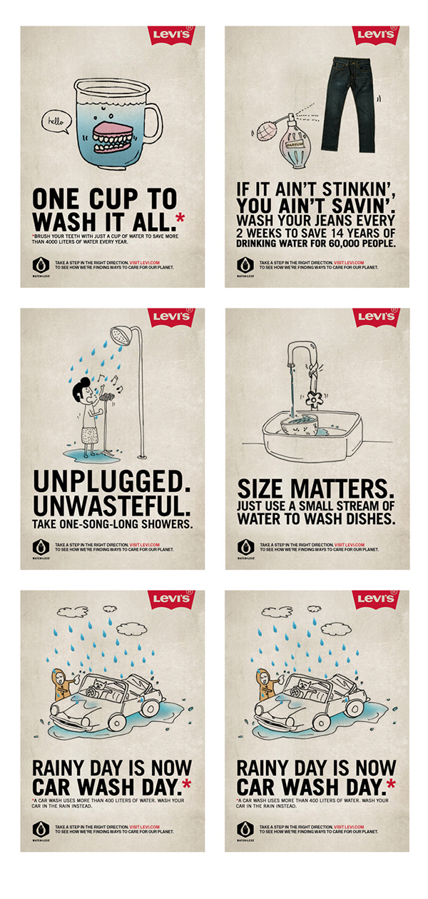 Campaign Levi S Waterless On Behance