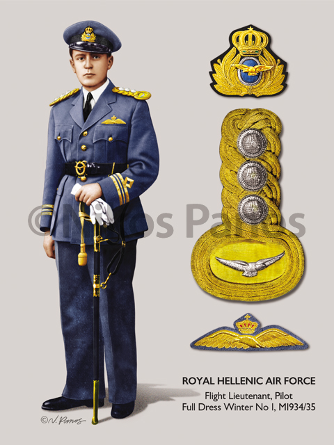 Hellenic Air Force Uniform, 1935 on Behance Royal Air Force Uniform Ww2