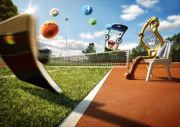 3D sport Outdoor Internet vodafone balls