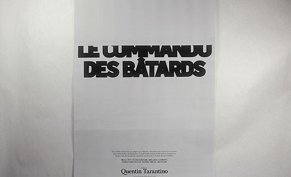 affiche commando des bâtards inglorious bastard black & white noir & blanc typo Typographie remake