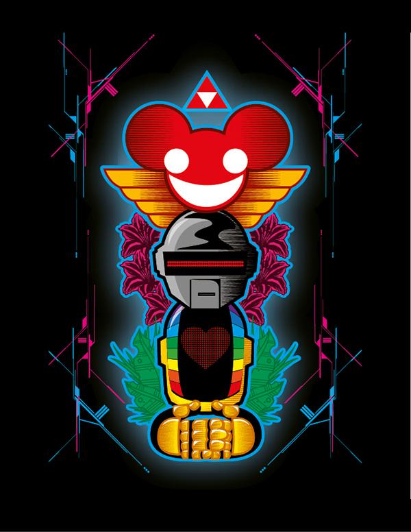 Fan Art Totem Deadmau5 And Daft Punk On Behance
