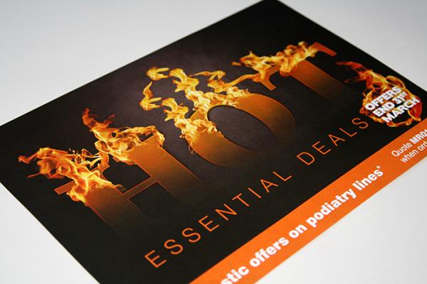 Flames photoshop flyer leaflet