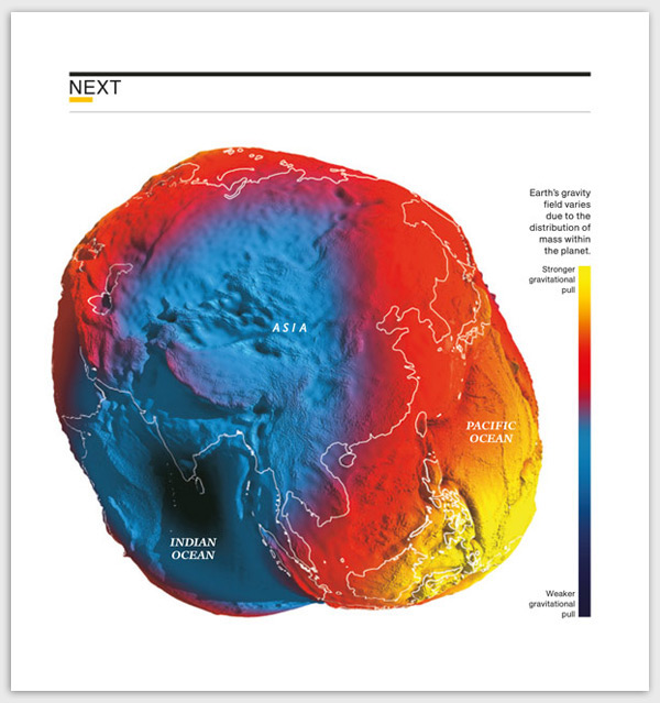 ixtract | Most Accurate Gravity Map Of The Earth on Behance