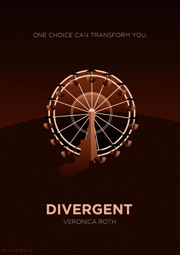Divergent Book Cover Ideas : Divergent minimalist posters on behance