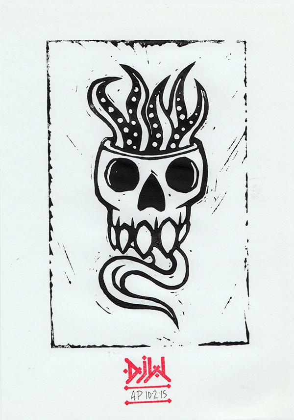 skull tentacles monster demon spooky