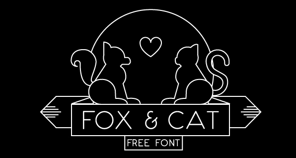 Fox & Cat is a Thin Free Font Download