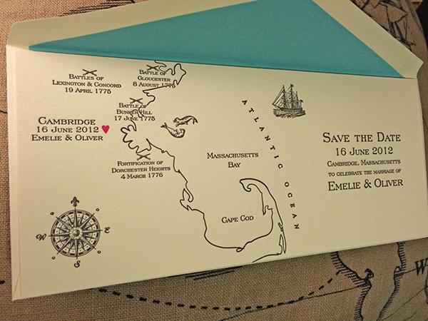 Letterpress Map Wedding Invitations On Behance