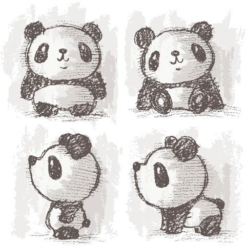 Panda Drawing On Behance