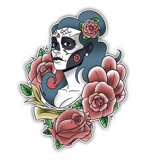 catrina tattoo design on wacom gallery. Black Bedroom Furniture Sets. Home Design Ideas