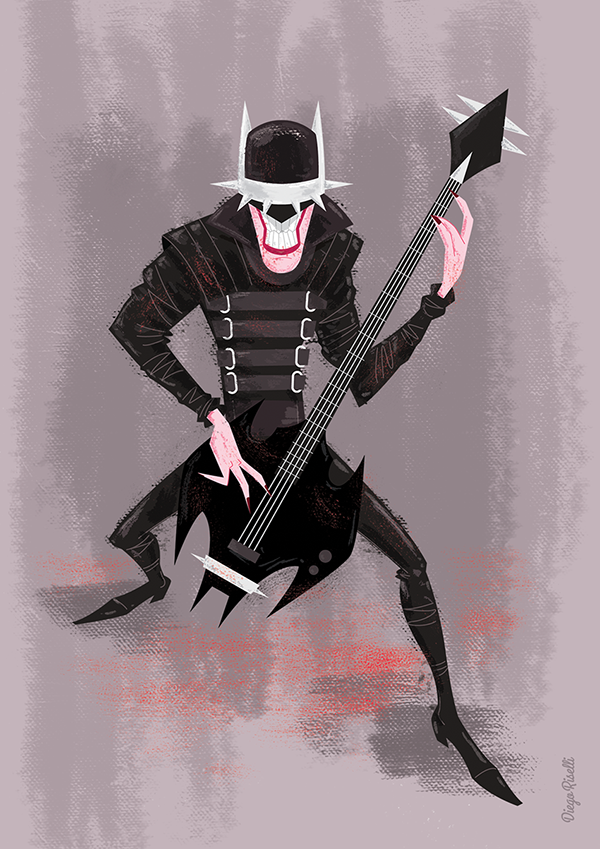The Batman Who Laughs on Pantone Canvas Gallery
