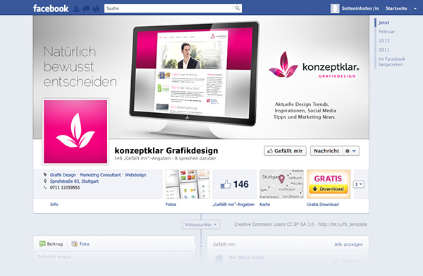 Free Facebook Timeline Template on Behance
