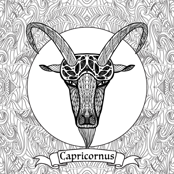 Zodiac Signs Coloring Pages on Behance