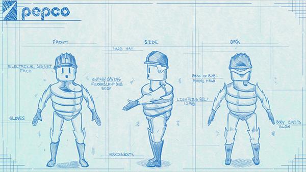 Character Design Portfolio Presentation : Pepco character design concepts on risd portfolios