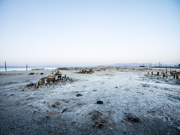 salton sea ghost town Death Valley desert southern california flood water devastation dust mobile home disaster Landscape environmental gallery pollution