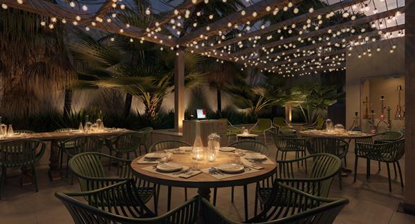 Restaurant shown kitchen and terrace on behance for Terrace 45 restaurant