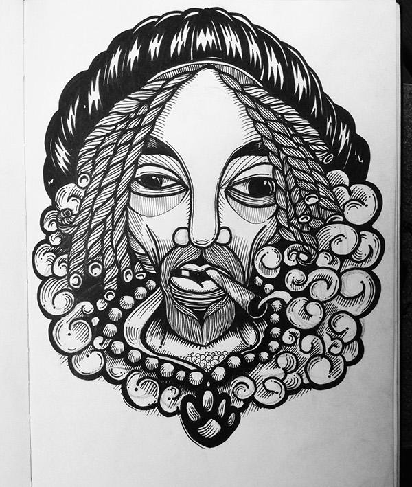 Snoop Dogg Ink Drawing