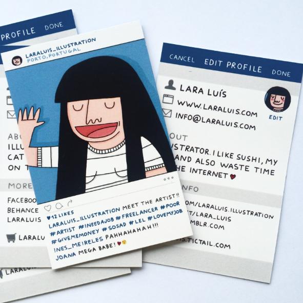 Instagram inspired Business Cards on Behance