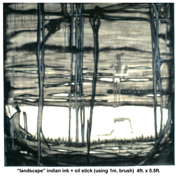 charcoal pen and ink pencil oil stick