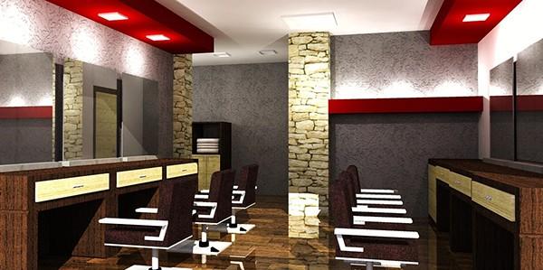 barber shop design on behance