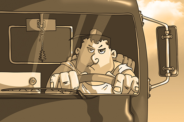 Смешные картинки про водителей грузовиков