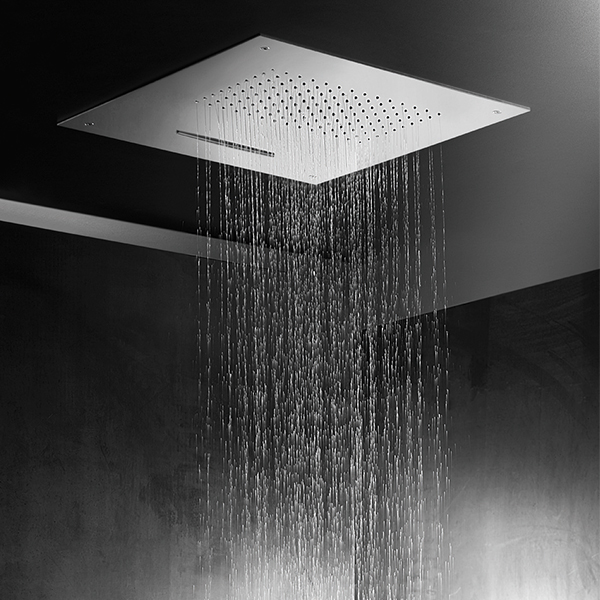function te704 recessed shower head with rain u0026 waterfall options te704