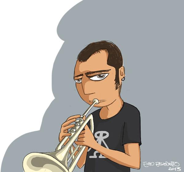 PEPE RAGONESE Enzo Benedetto jena trumpet tromba jazz musicista luna spazio Space  rocket