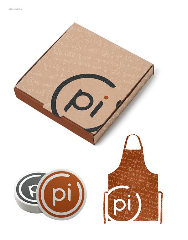 Typeface logo brand Pizza PI math restaurant graph custom typeface pizzeria 3.14 mathematics college student Food