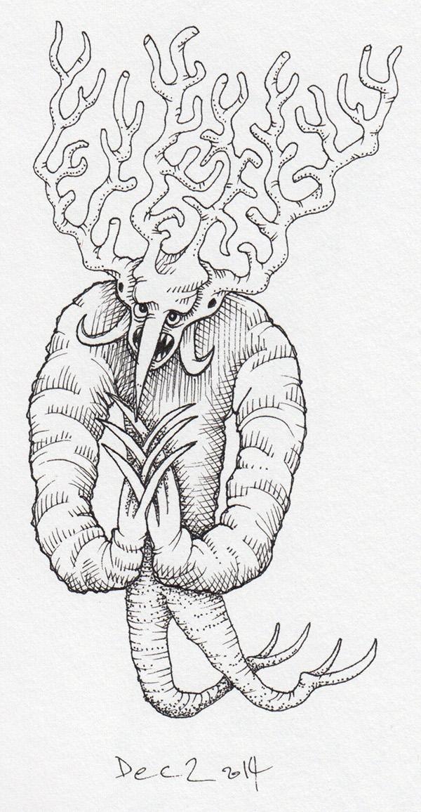 demon monster devil weird occult tentacle FANG eyeball