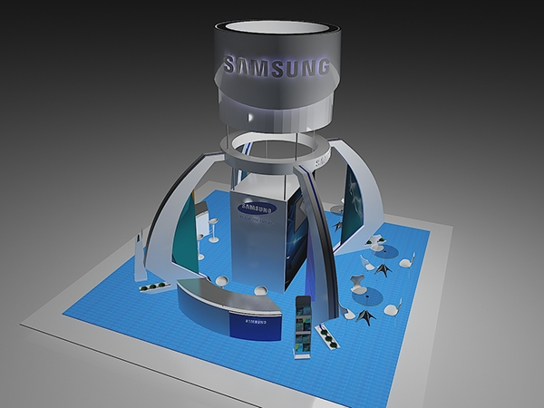 Exhibition Stand Circle : Samsung exhibition stand design on student show