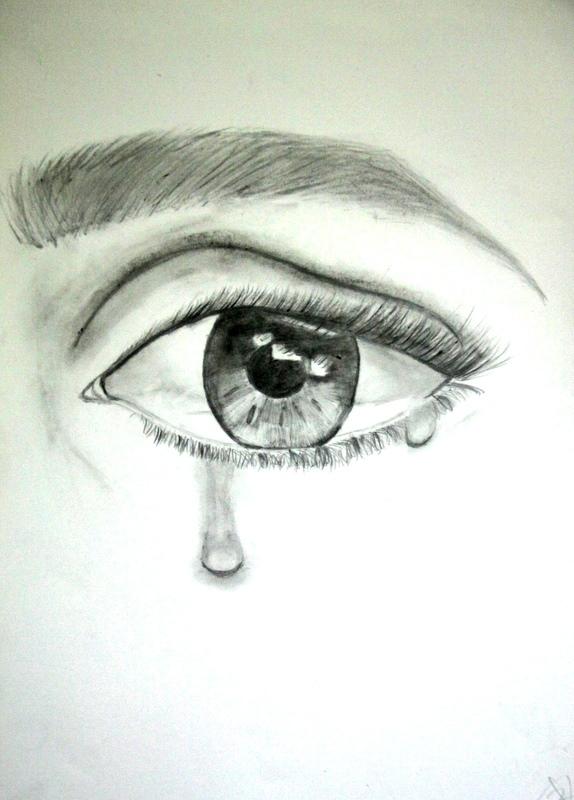 Dibujo Lapiz Ojo Ojos Llorando Dibujo Imagui