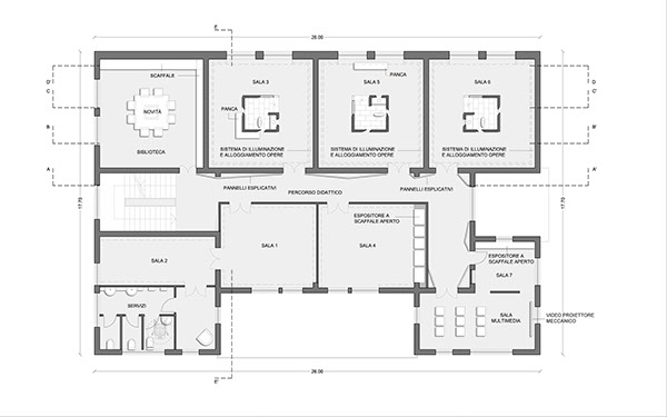 Progetto pinacoteca saracena on behance for Progetto casa autocad