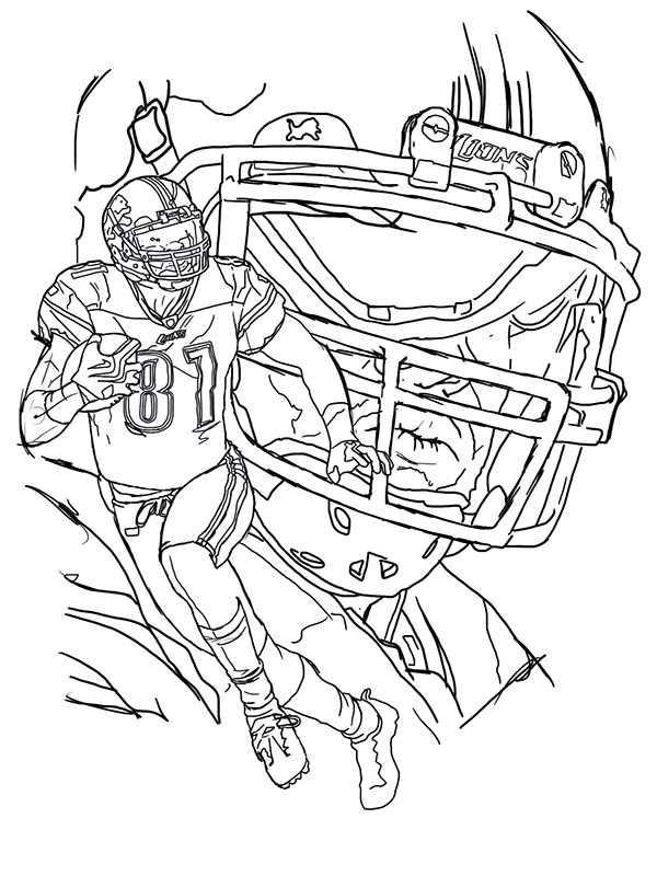 wide receiver football coloring pages - photo#24
